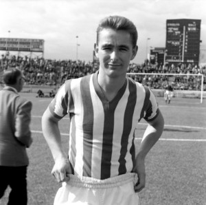 Brian Clough as a striker